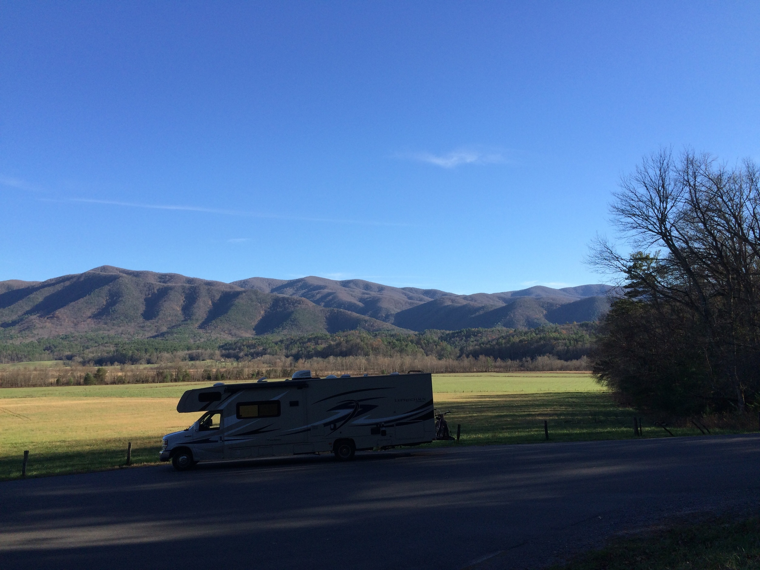 Lucky is touring us through Cades Cove