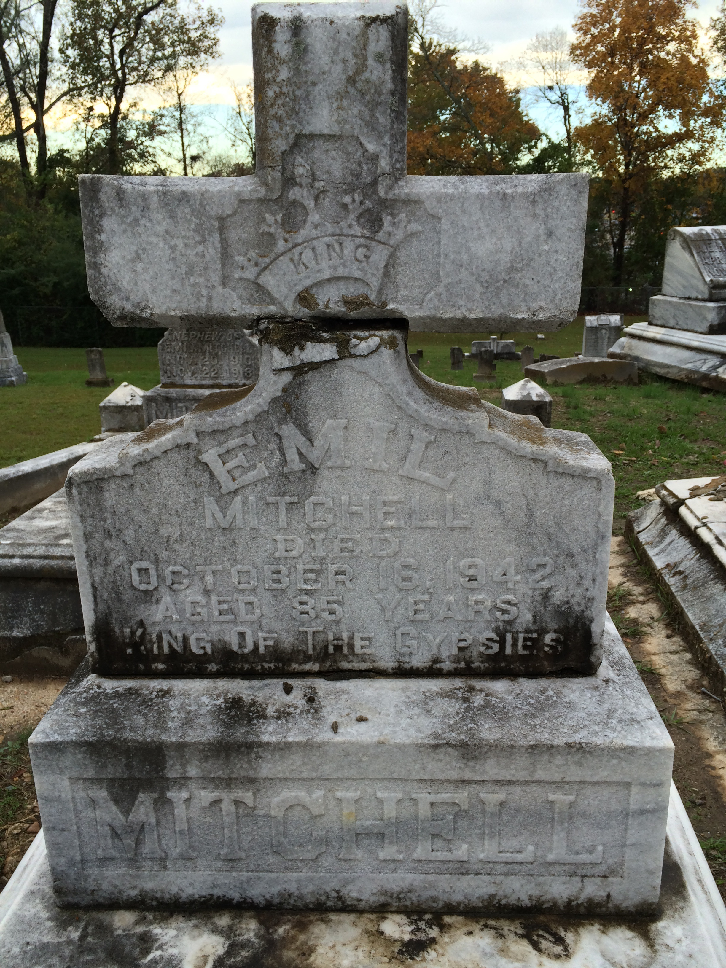 King of the Gypsies - Rose Hill Cemetery - Meridian, MS