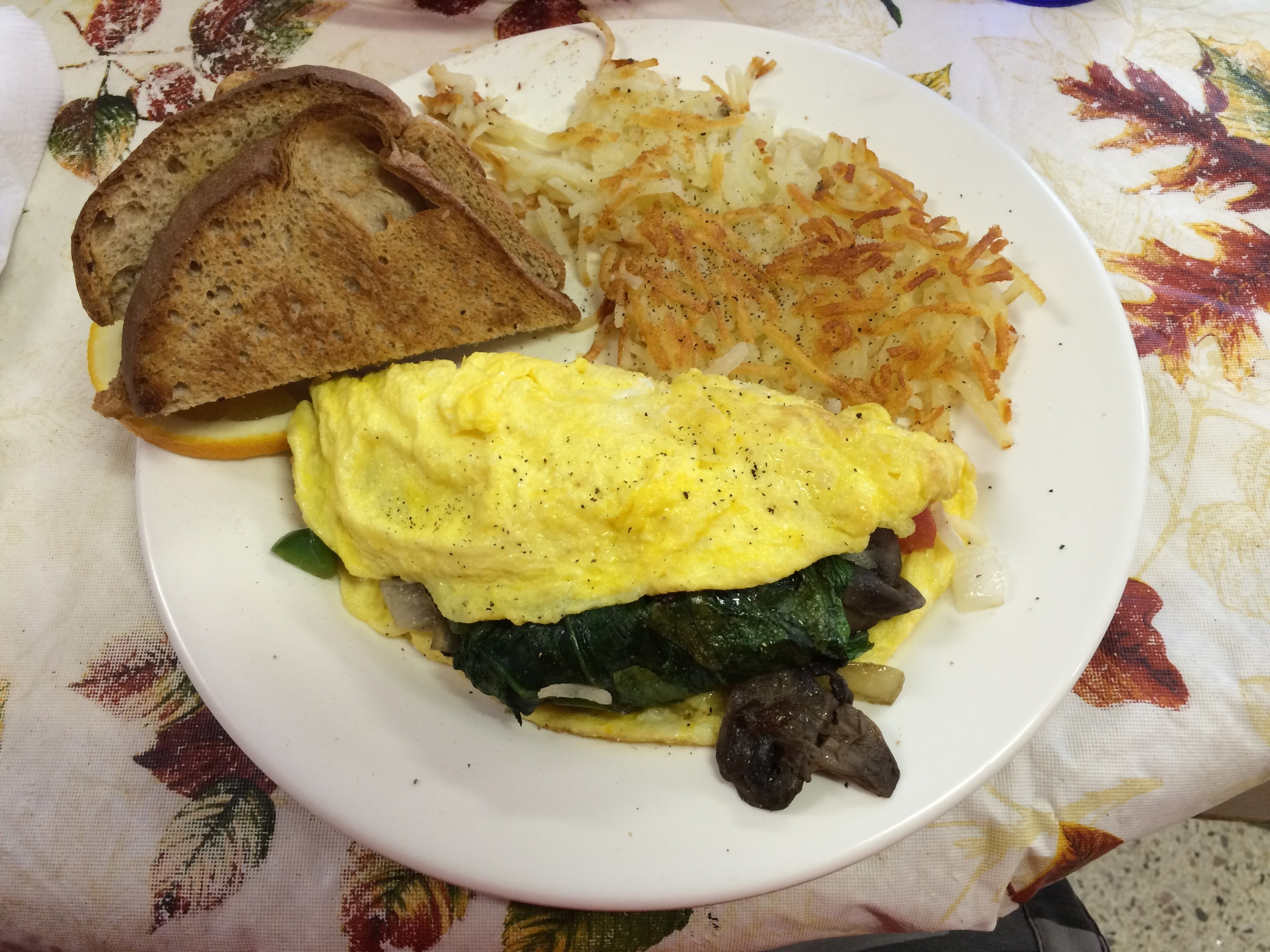 Awesome veggie omelette!