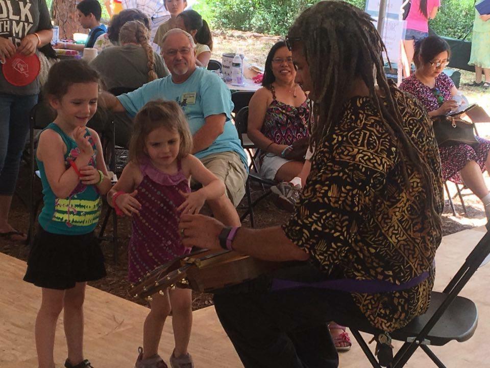 Presenting music at the Children's Area - 2016 Florida Folk Festival