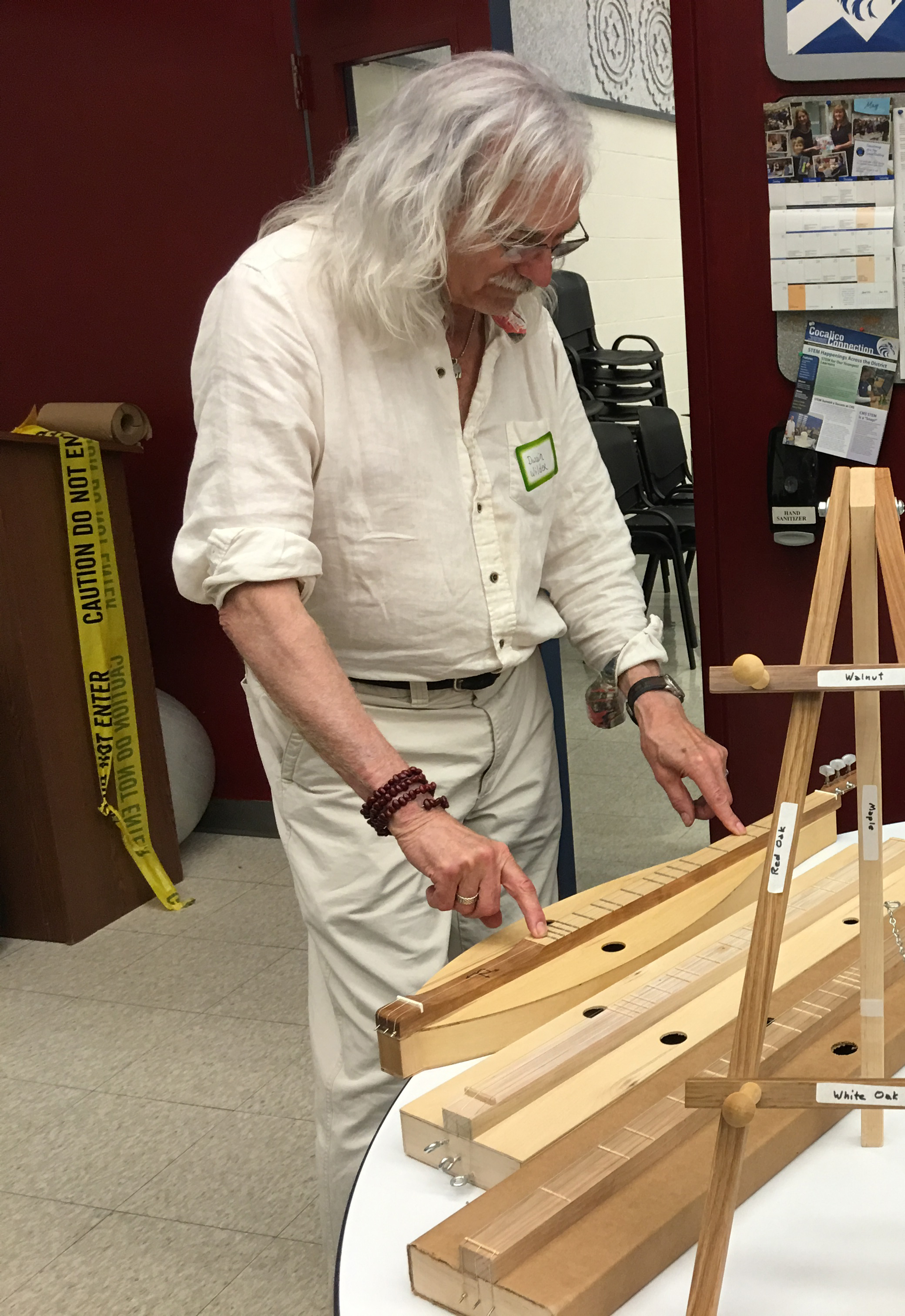 """Dwain Wilder built the Bear Meadow Concert Grand MIDI dulcimer with which I recorded """"All Songs Lead To The Gift Shop"""" in 2014."""