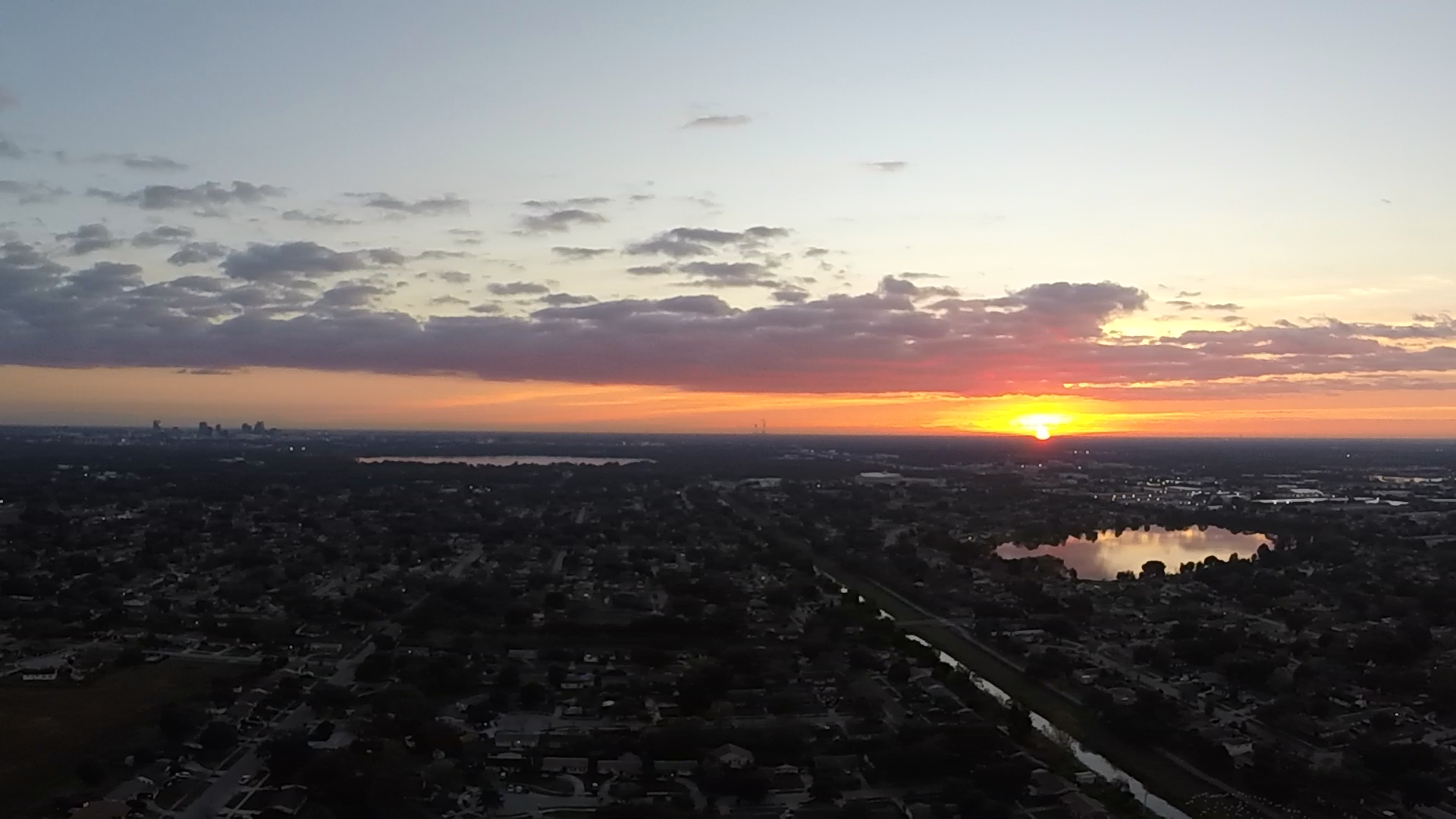 Sunrise over Orlando - 1/5/17 - 3DR Solo Quadcopter and GoPro Hero 3+ Silver