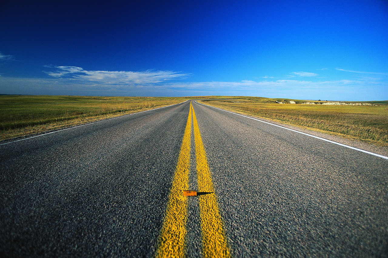The road of life - balancing on the double yellow line.