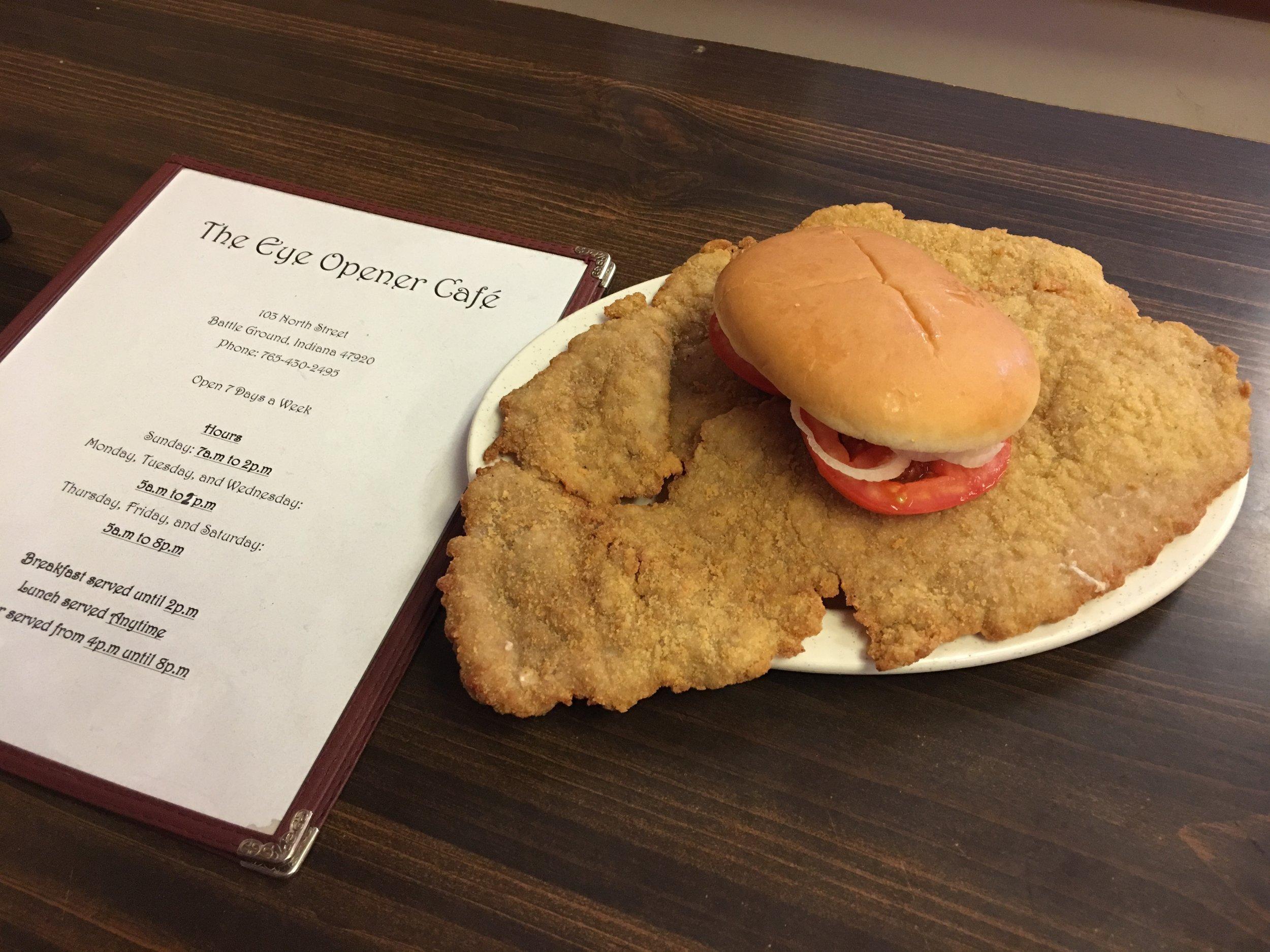 The Indiana Breaded Pork Sandwich