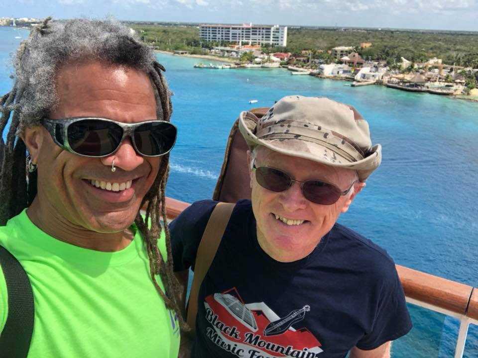 with Jon Timlin in Cozumel, Mexico earlier this month.