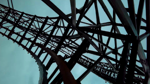 The insanity of Goliath at Six Flags Great America - Gurnee, Illinois