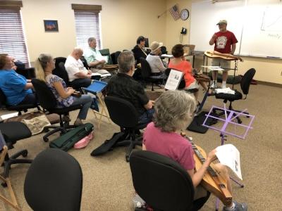 Joe Collins teaches a workshop.