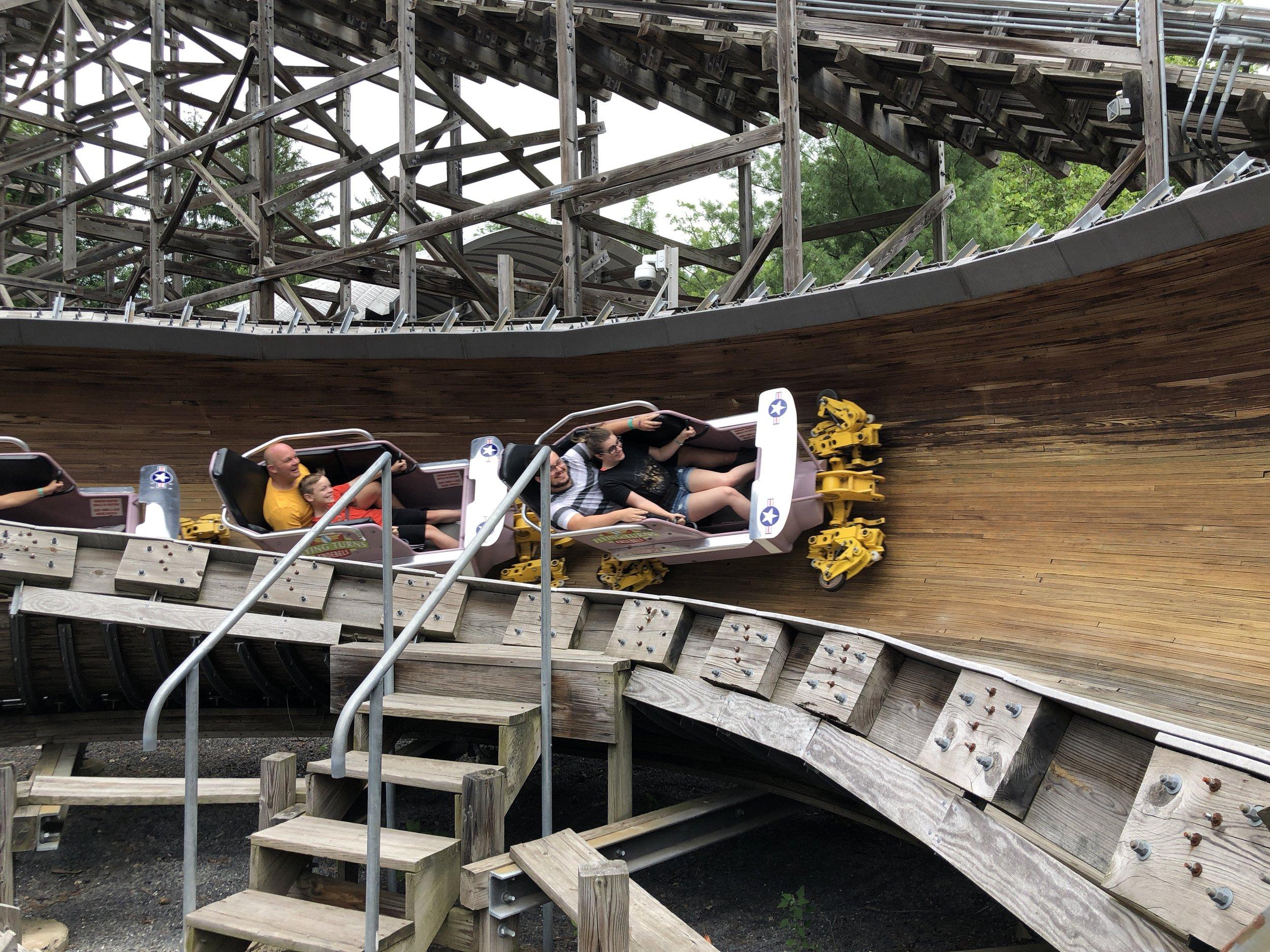 Flying Turns at Knoebels Amusement Resort - Elysburg, Pennsylvania.