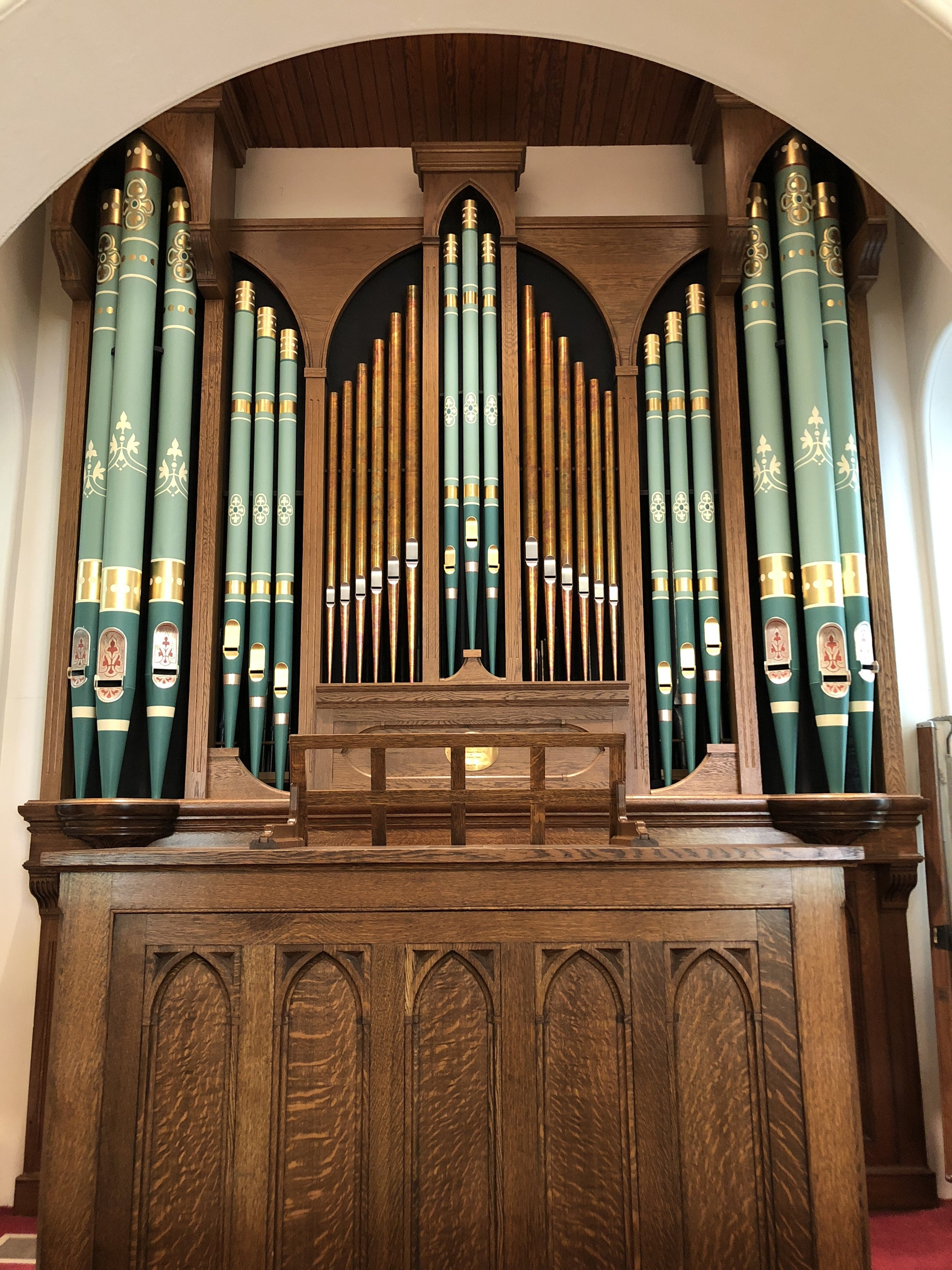 This  gorgeous  pipe organ in Little Baker Chapel. McDaniel College - Westminster, Maryland