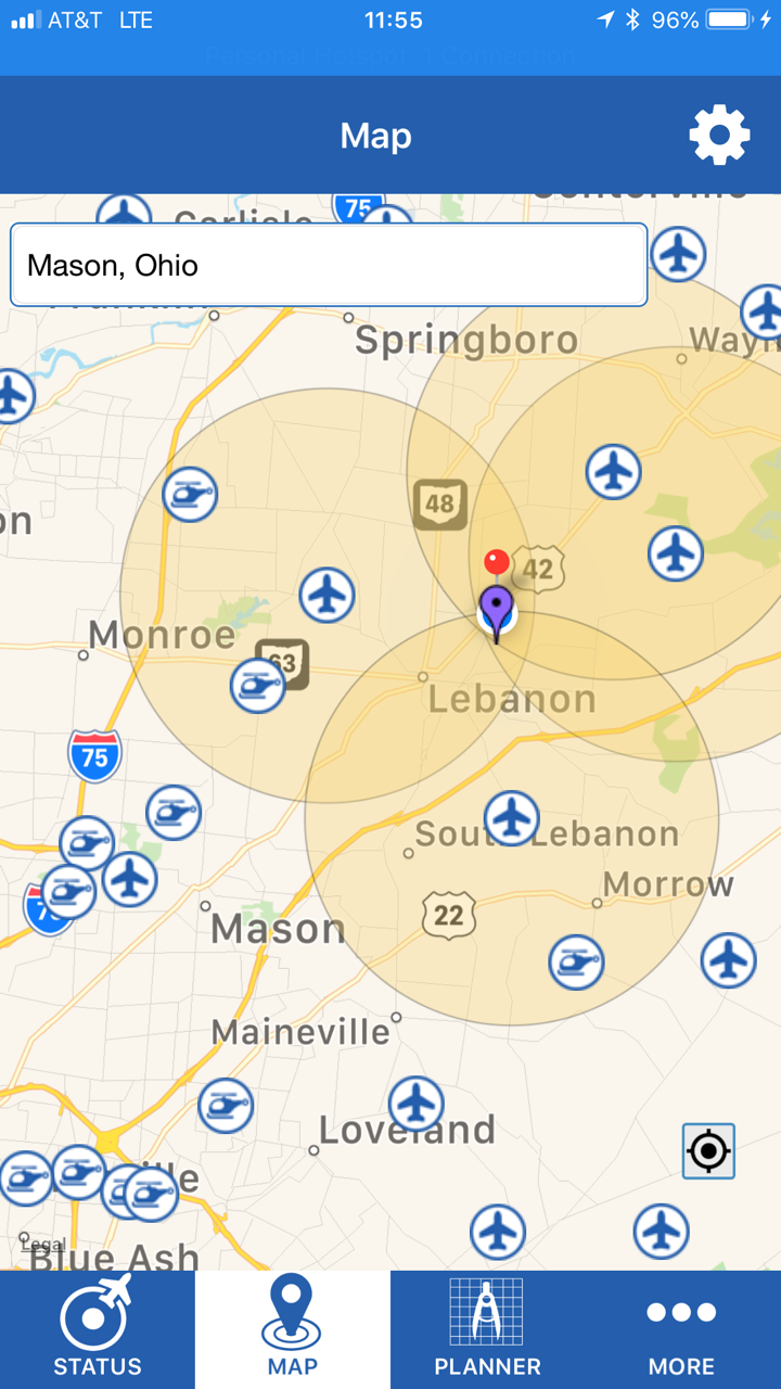 The FAA's B4UFly app.