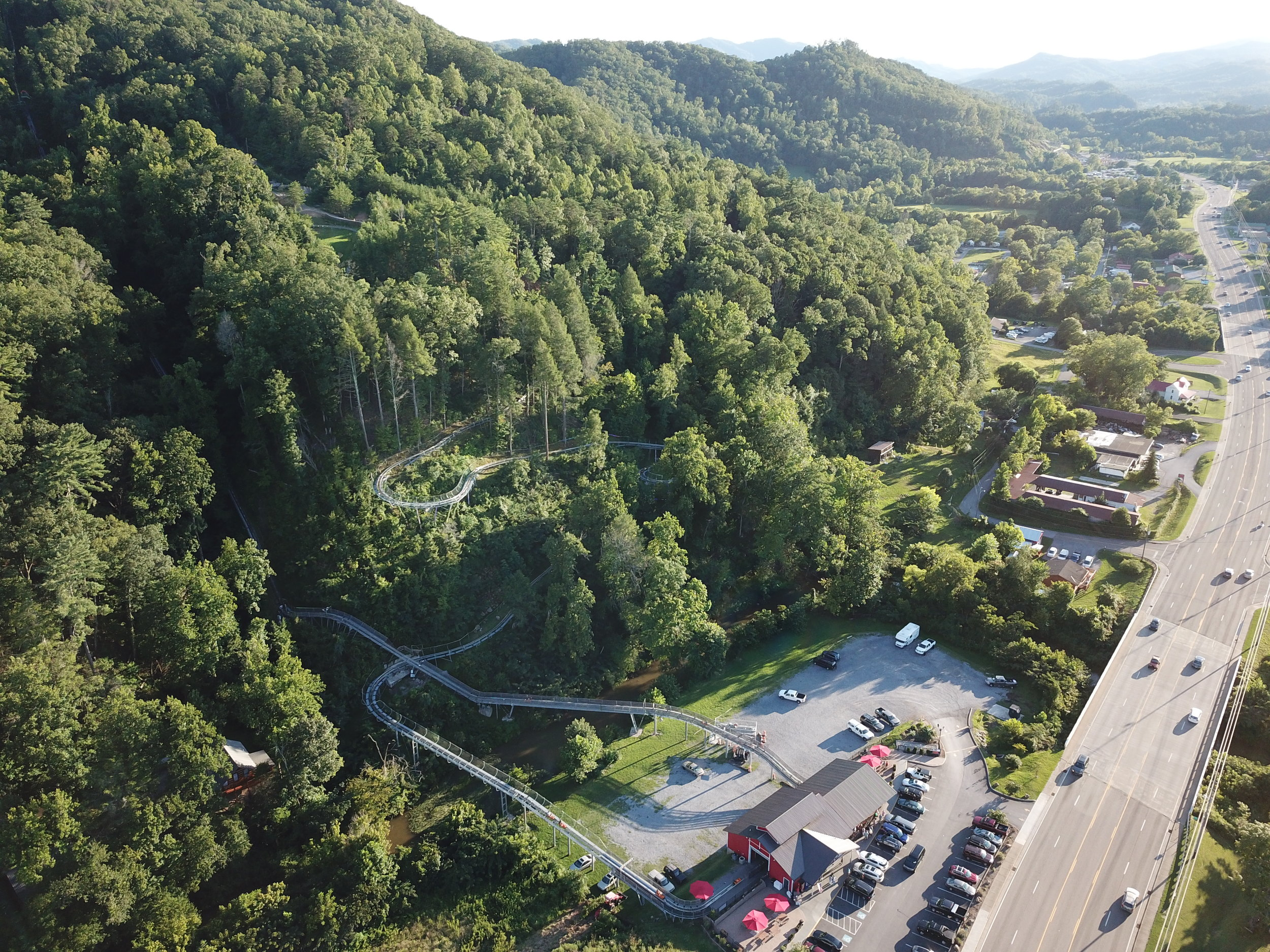 The Great Smokey Mountain Alpine Coaster in Pigeon Forge, TN. Can you spot Imua in this picture?