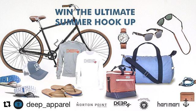 An incredible giveaway being put on by our friends @deep_apparel and @hudsonsutler - $1500 summer prize pack! Link in bio to sign up. Tag a few friends and split the winnings!