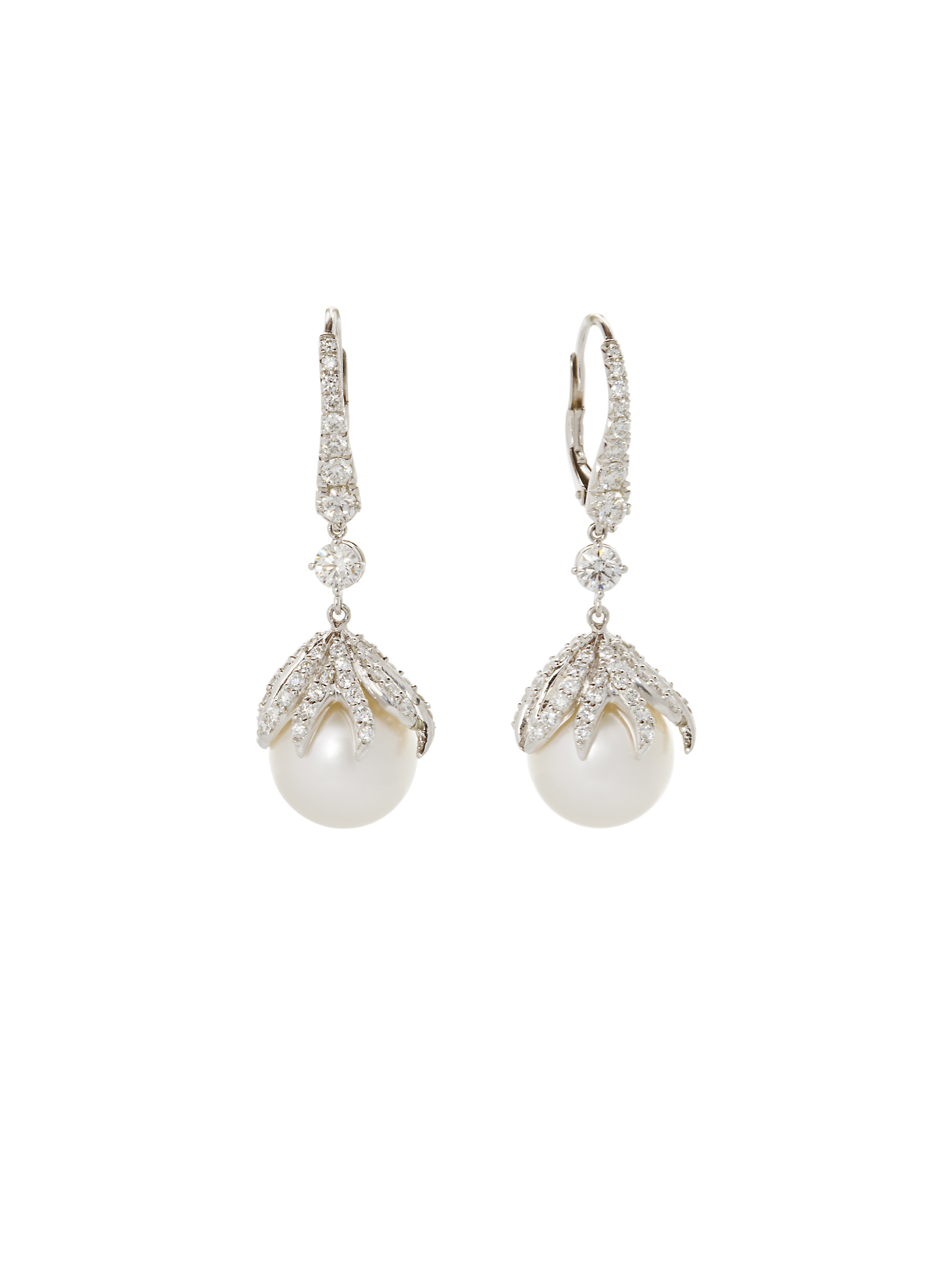 ALVA EARRINGS    18K GOLD TAHITIAN PEARLS 2.71 CT OF DIAMONDS      Contact for inquiry