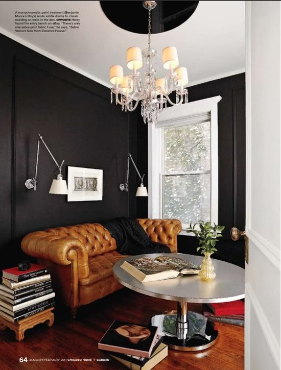 Onyx via  Chicago Home and Garden