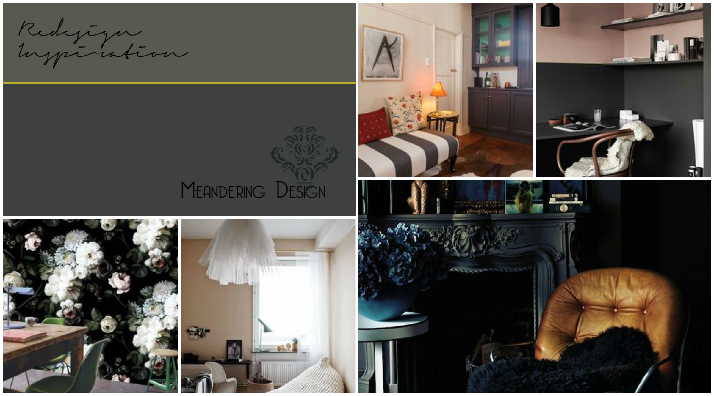 Top row: AirBNB in Cape Town, South Africa , via  Nordic Design , Bottom Row:  Ellie Cashman Design , via  Nordic Design , Abigail Ahern via  From The Right Bank