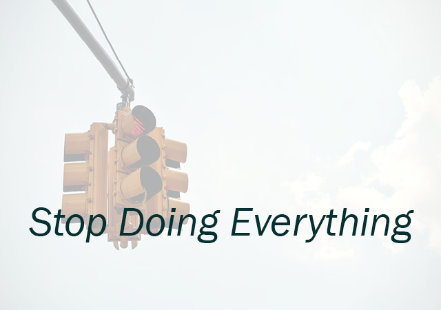 Module Three: Stop Doing Everything  This part of the course includes exercises that will help you review the people and things on your to do list. It will walk you through how to let go of doing everything so you can make space to do the things you want to do.