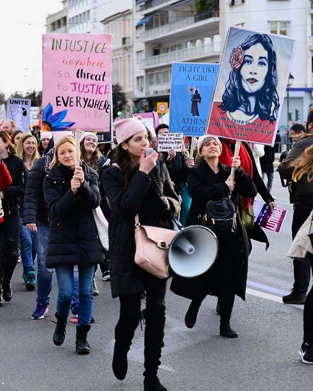 Just came across some photos captured from the Women's March in Athens 👏🏼👏🏼👏🏼