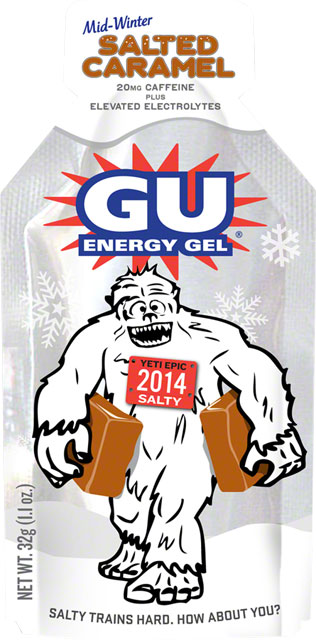 10.) GU Salted Caramel Energy Gel