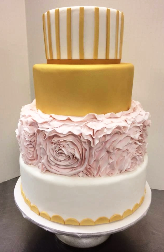 pink and gold flower wedding cake.jpg