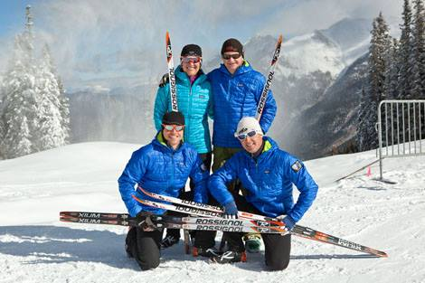 2014 PSIA Nordic Team (from to left to bottom right): Megan Spurkland, Scotty McGee, David Lawrence, Ross Mattlock