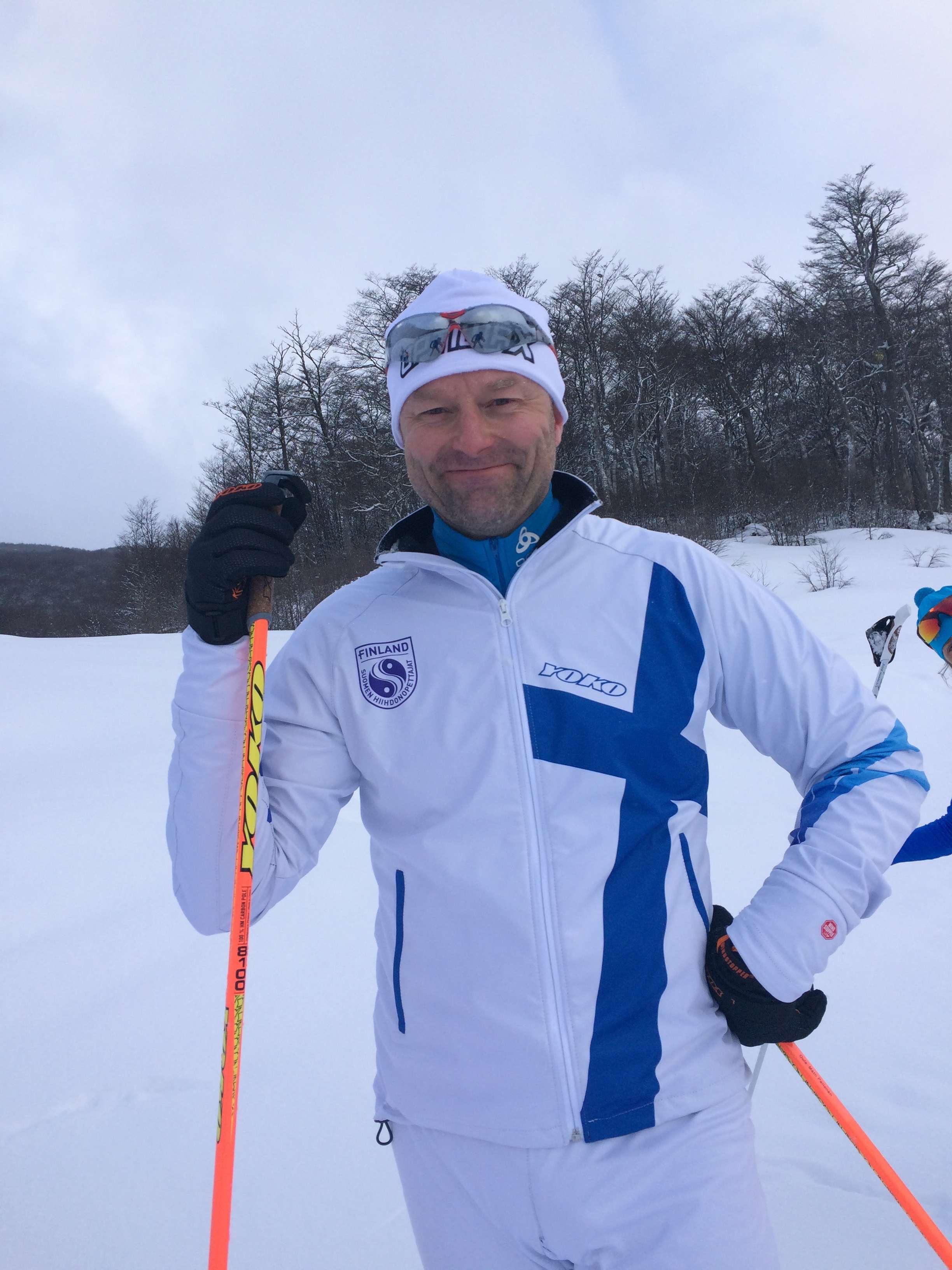 Oula-Matti Peltonen on the Finland team.