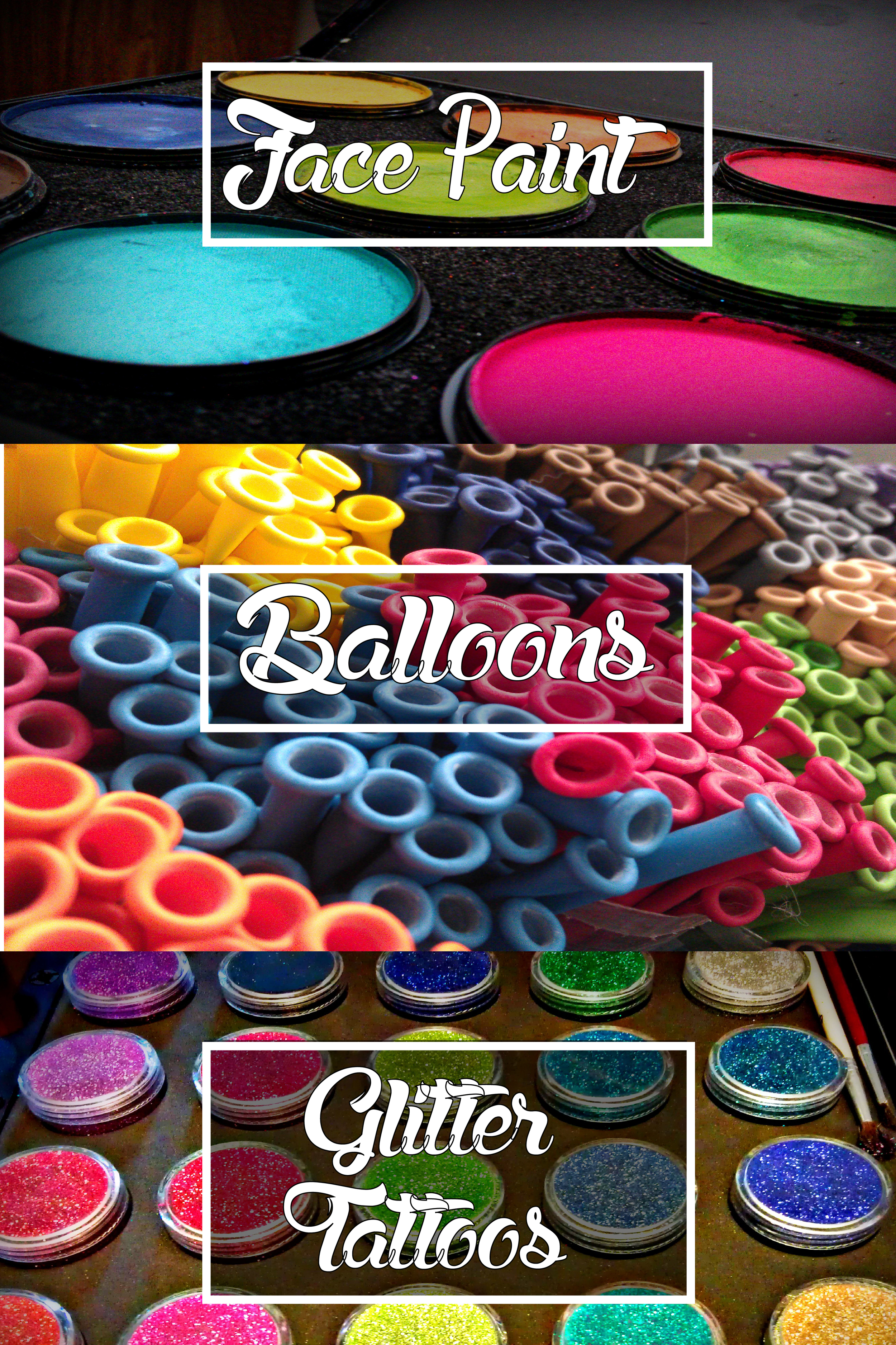 Galleries of Face Paints, Balloons, & Glitter Tattoos