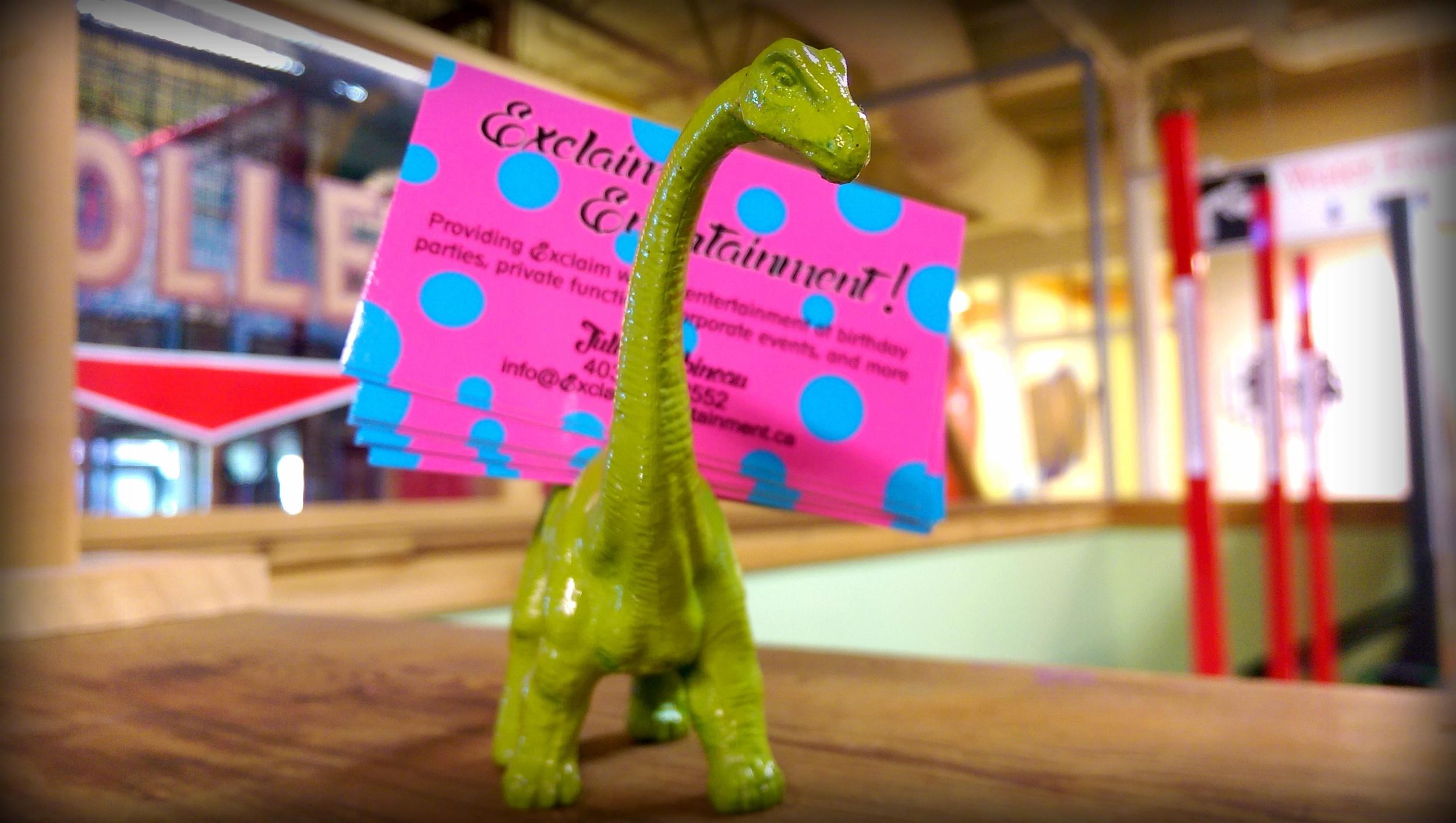 Exclaim Entertainment dinosaur card holder