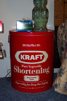 Only in the South can you find a vintage shortening container that once held 110 pounds of the stuff!