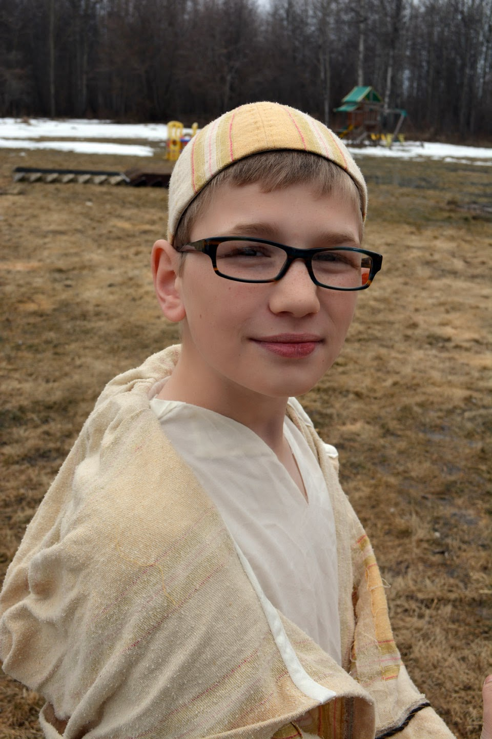 Little shepherd boy--with glasses?