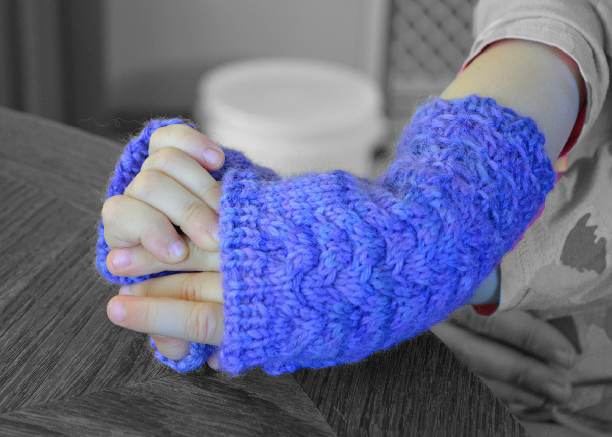 Mermaids and Dragons Fingerless Mittens