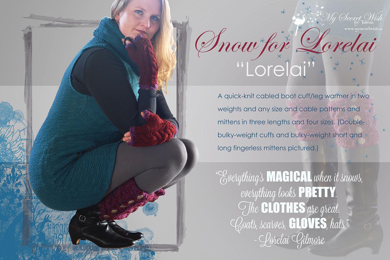 """Snow for Lorelai knitting pattern - """"Lorelai"""""""