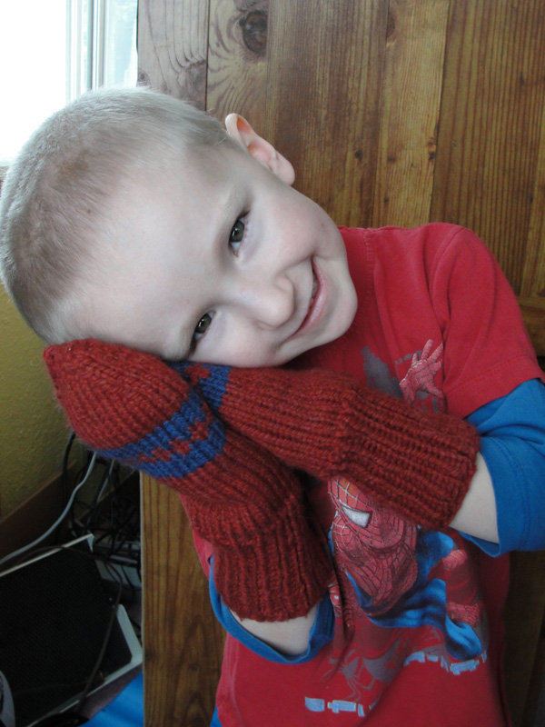 Lined Seamless mittens for kids