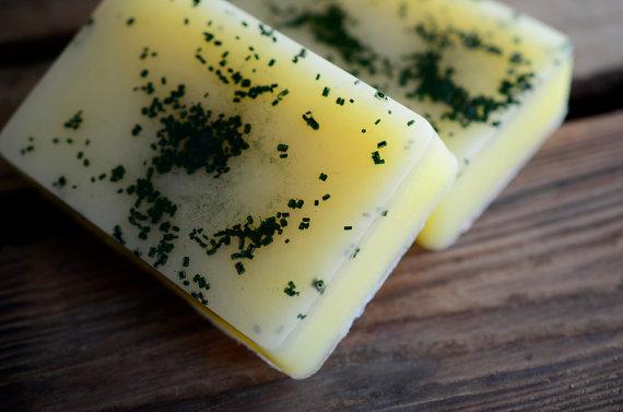 Green Lemon Verbena Soap from FirebirdBodyBath  on Etsy.