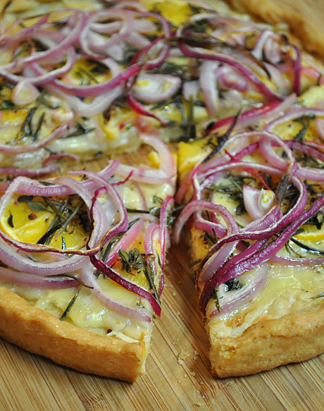 Meyer Lemon Pizza with Fresh Rosemary and Lemon Time recipe at Figs with Bri.