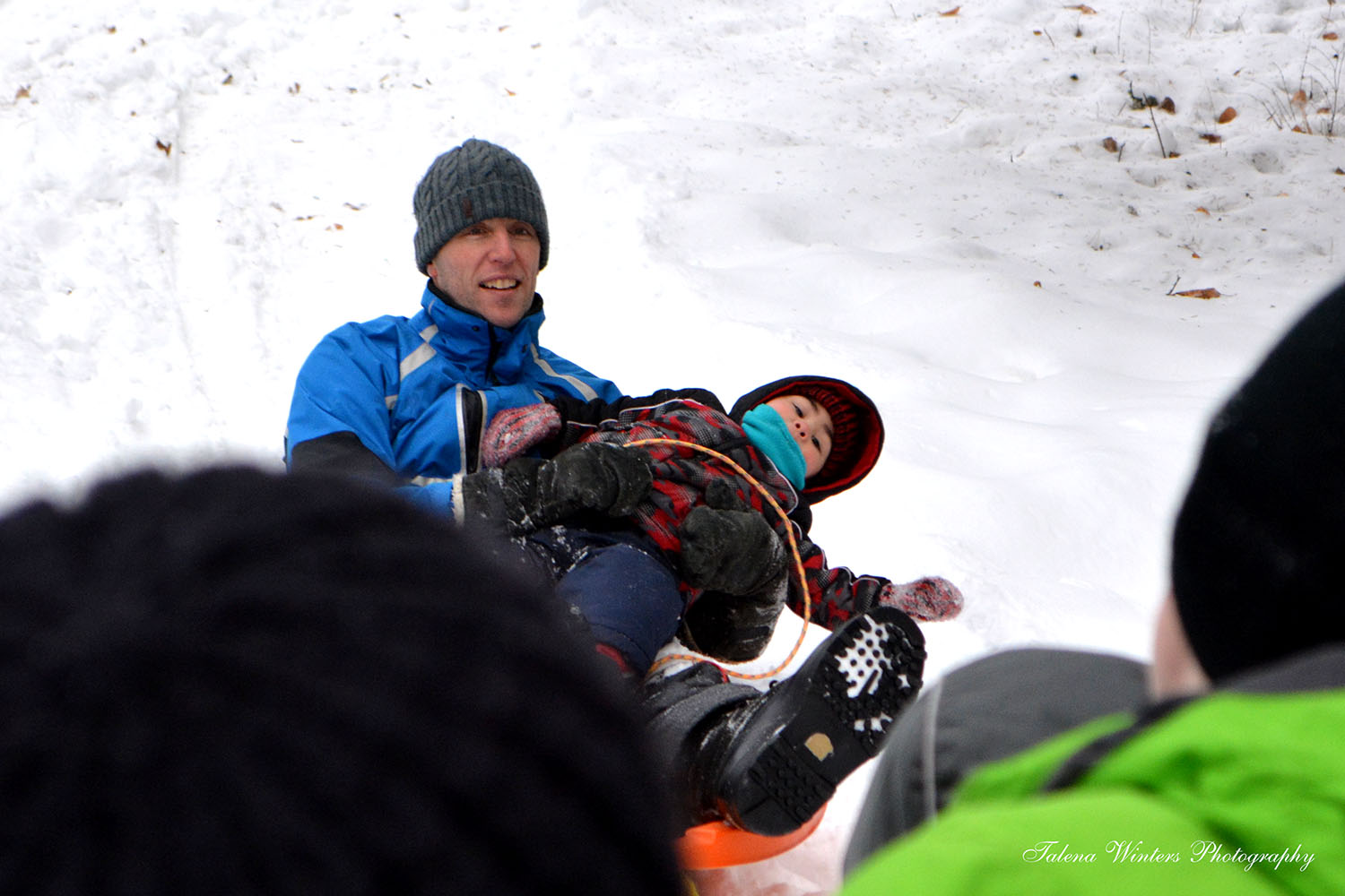 I wonder if this year Levi will get to have a toboggan/sleigh ride on his Heavenly Father's lap? (The little goof thought it was hilarious to swing all over the place while he was on this ride. You can't see his grin, but he was laughing here!) Photo 2015/01/01