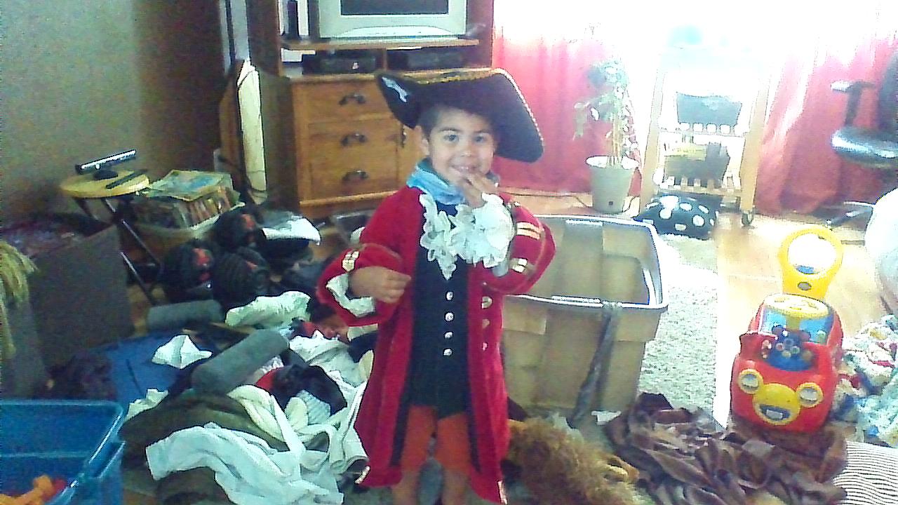Captain Levi Hook--cutest pirate ever! Photo taken 2015/05/25.