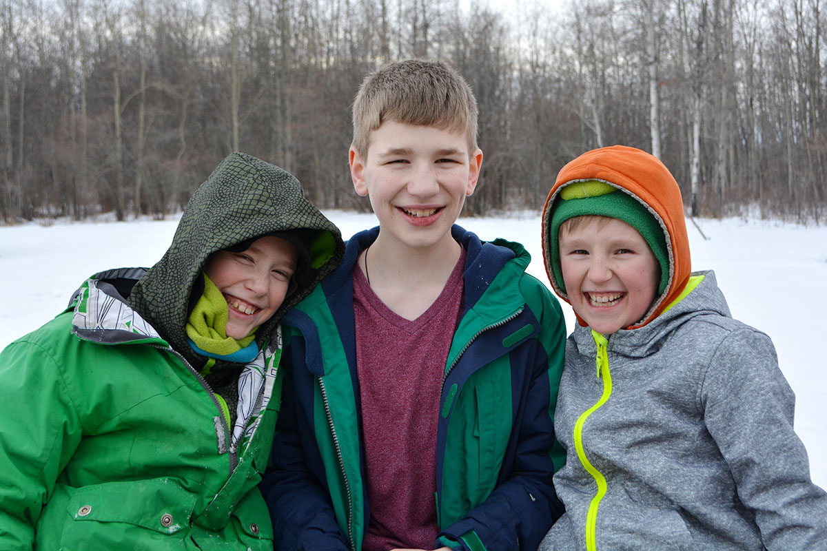 Three of my biggest blessings. Photo taken today.
