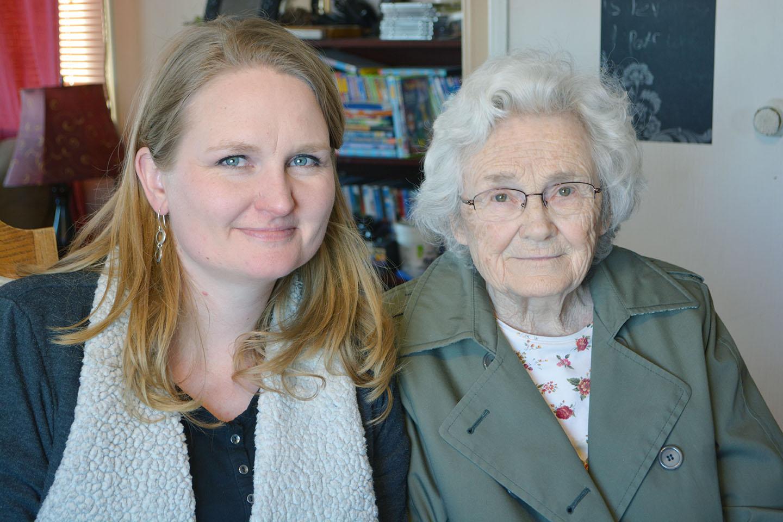 Talena and Grandma Ivis, March 2016