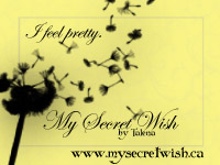 One of my original marketing badges for My Secret Wish by Talena.