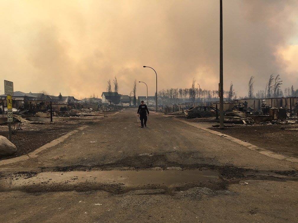 This photo is from the RCMP's Facebook album showing Fort McMurray. Taken yesterday.