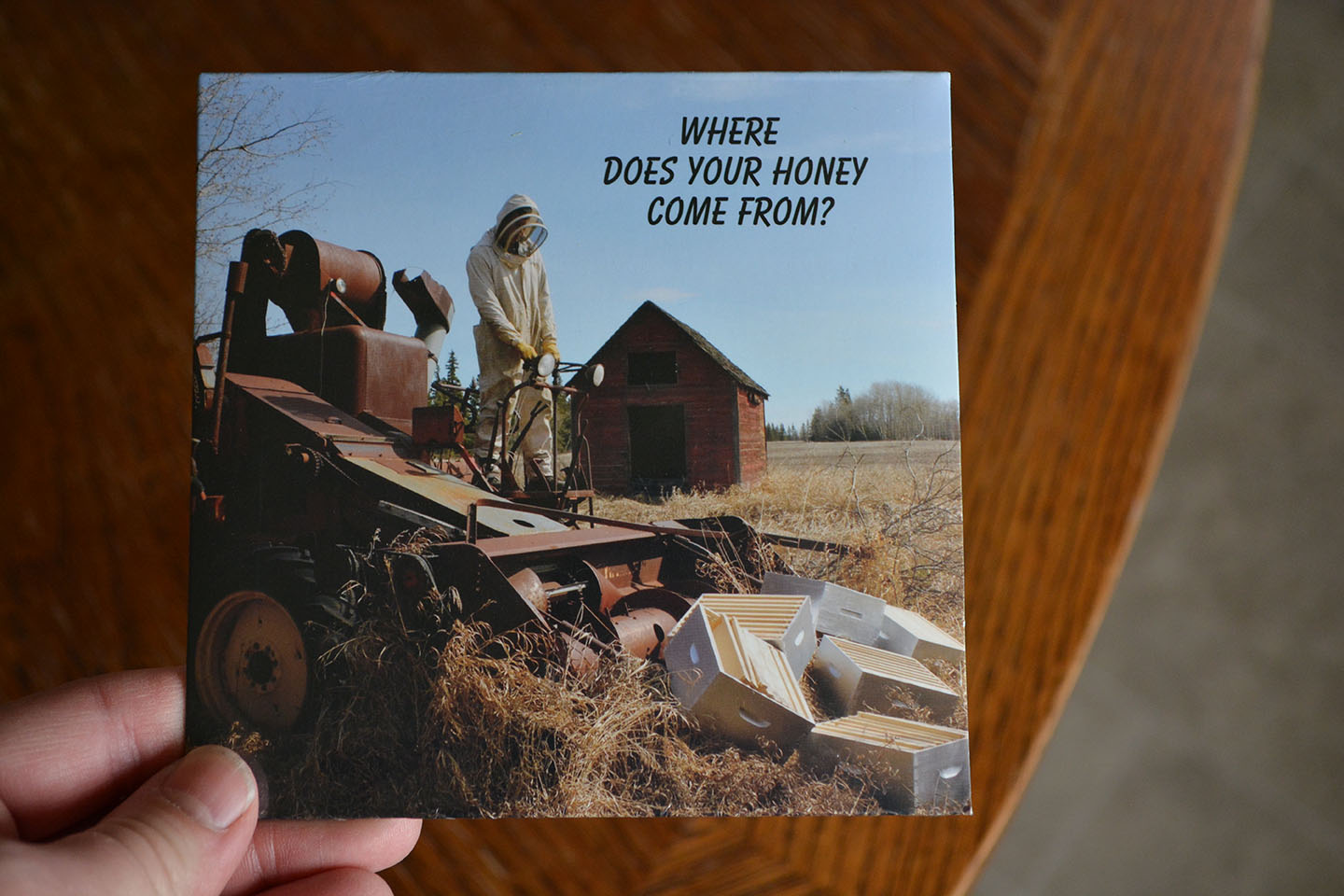 Brendan Dickson's 2nd album, featuring a photo of my fave honey producers. :-)