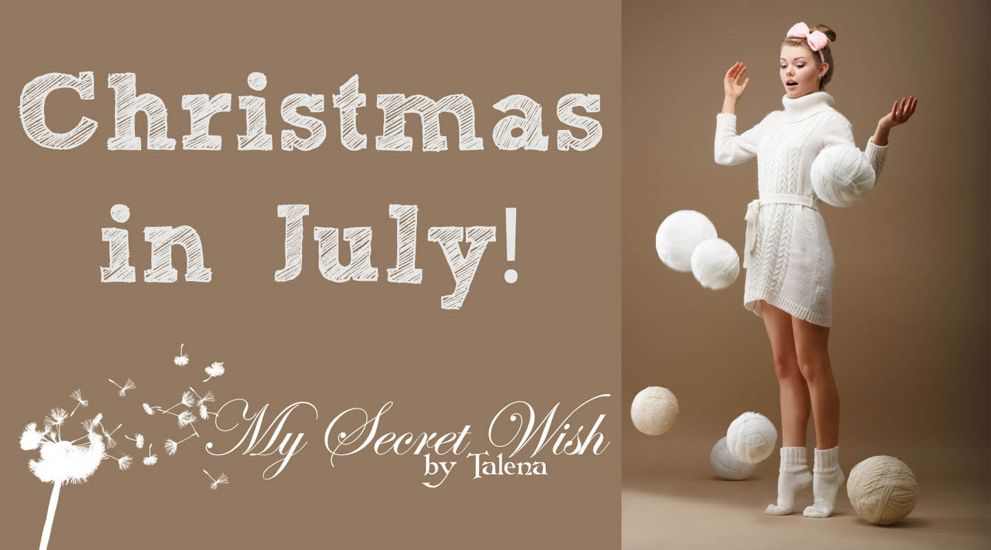 Christmas in July sale--all knitting patterns 25% off until midnight on Monday, July 11! Use coupon code CHRISTMASINJULY at checkout.