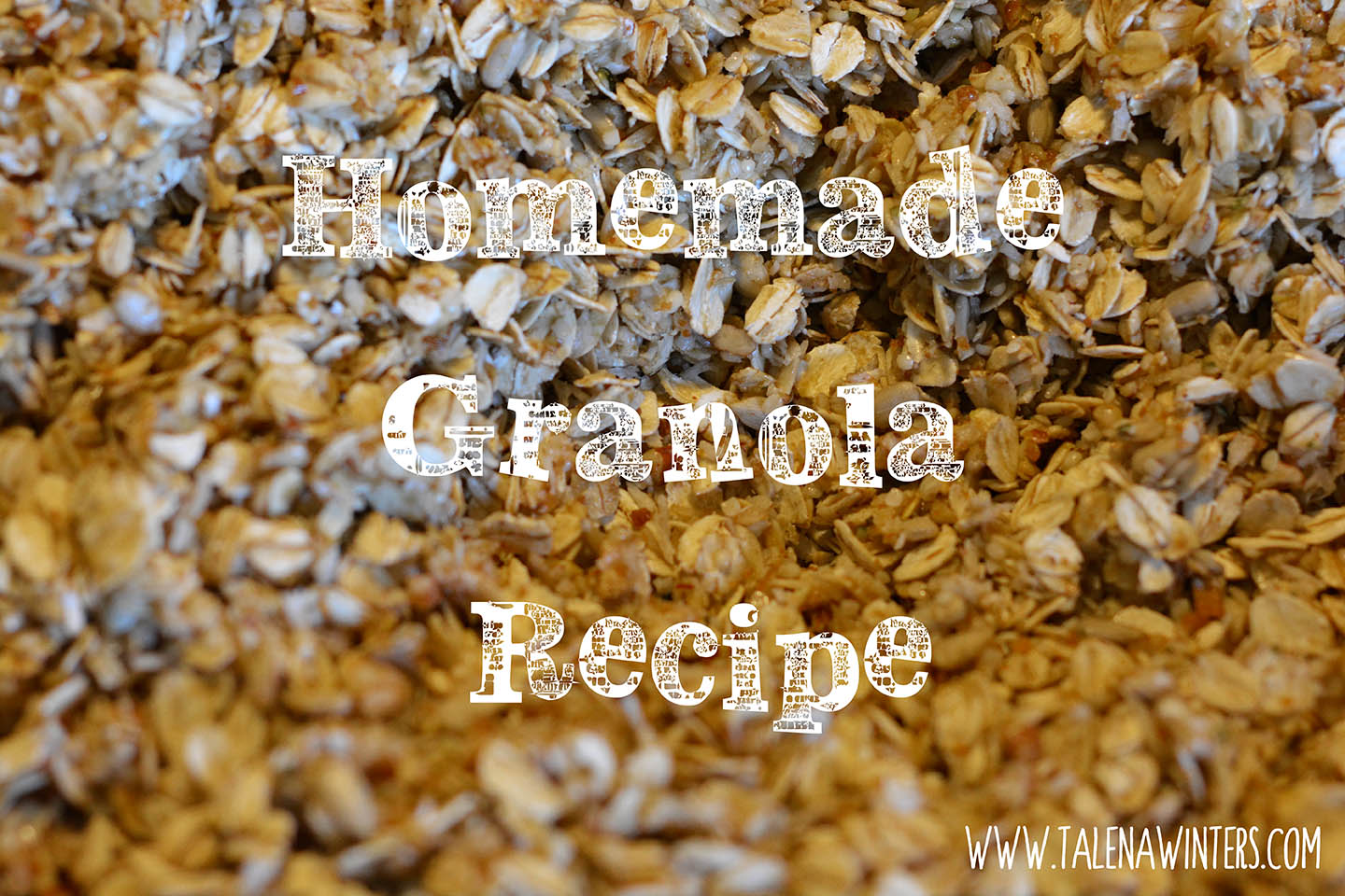 Yummy and easy homemade granola from www.talenawinters.com.