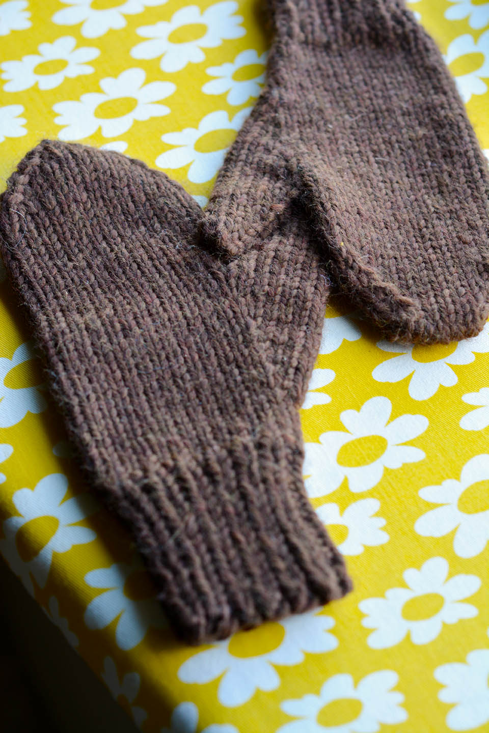 Just Plain Mittens, bulky weight, Child size