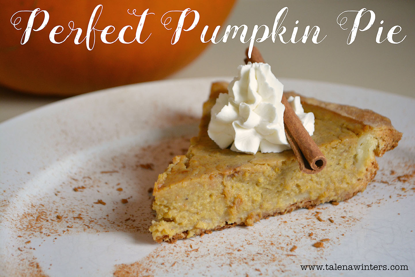 Perfect Pumpkin Pie recipe with a dairy-free filling. So moist and yummy!