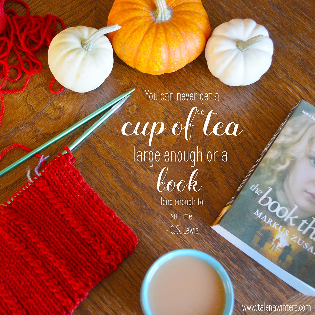 Knitting, reading, tea, things with pumpkin (pie spice)... only a few of life's simple pleasures that I love.
