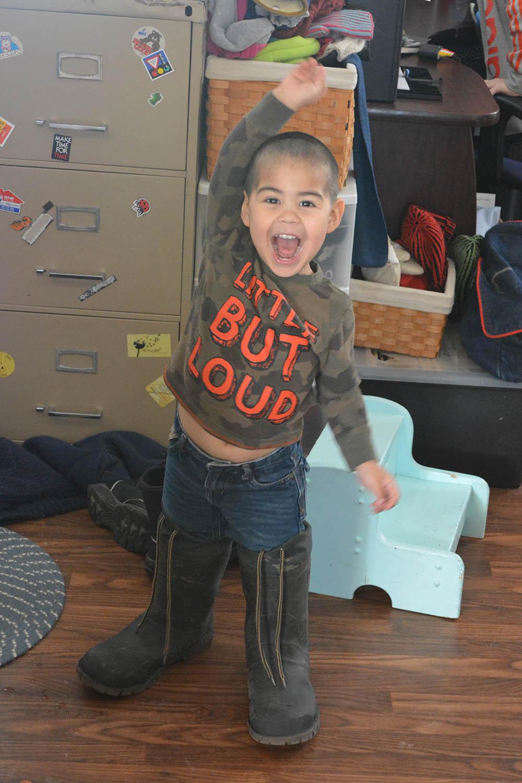 That's my boy! April 4, 2015. 3 years.