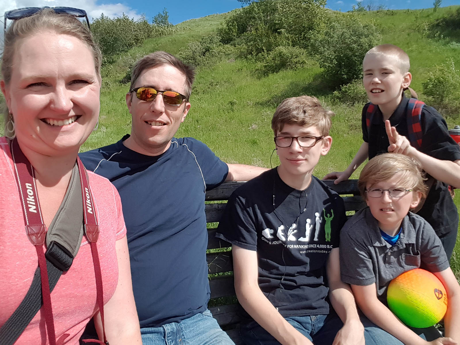 Family selfie on our Father's Day hike.