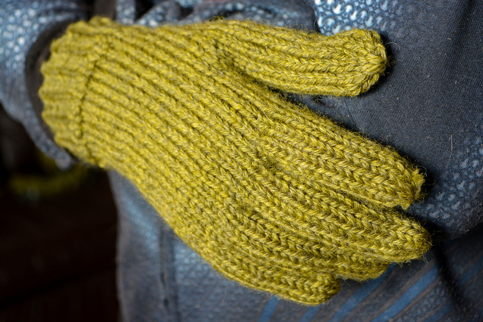 Bulky Weight Just Plain Gloves - 3 yarn weights, all hand sizes. Fingering-weight liner pattern included.