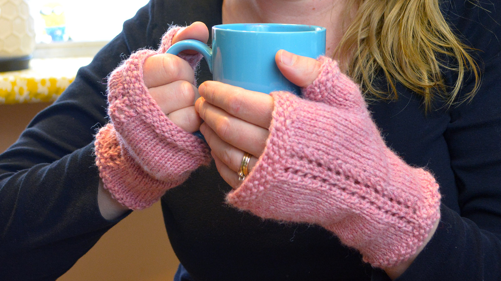 Secret Garden Fingerless Mittens. Sized from Child to Ladies Large.